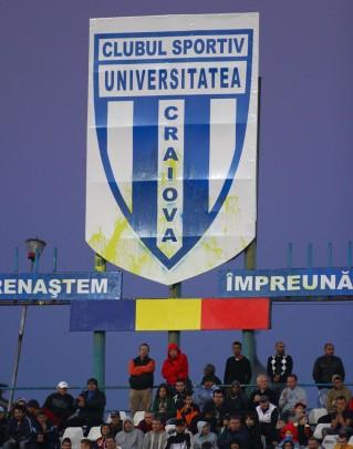 As marcas amarelas ainda estão no escudo do CSU (foto: Gazeta Sporturilor)