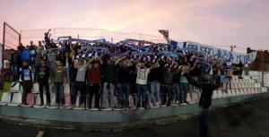 Cerca de 100 torcedores oltênios estiveram em Arad (foto: Fanatik.ro)