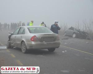 A forte neblina facilitou o acidente (foto: Gazeta de Sud)