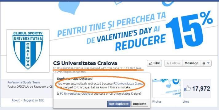 """Página do FCU foi """"fundida"""" a do CSU (foto: Vlad Rosca)"""