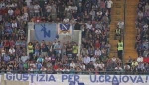 """Torcedores da Napoli apoiaram o FC U Craiova no período da """"extinção"""""""
