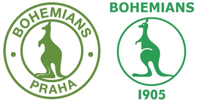 À esquerda, o antigo FC Střížkov Praha 9. À direita, o clube apoiado pela maioria da torcida