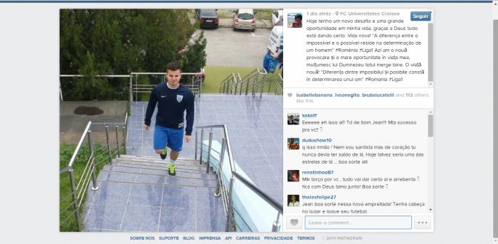 Segundo Chera, ele está no FC Universitatea Craiova (foto; reprodução)