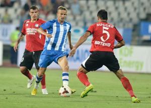 Bancu foi irregular na partida, mas fez uma assistência precisa para o gol de Curelea (foto: csuc.ro)