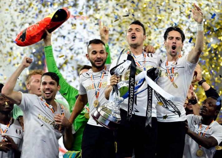 Gaman, Júnior Morais, Budescu, Gaman: a base do Astra está mantida para títulos além da Supercopa (foto: Laurentiu Mich/Mediafax)
