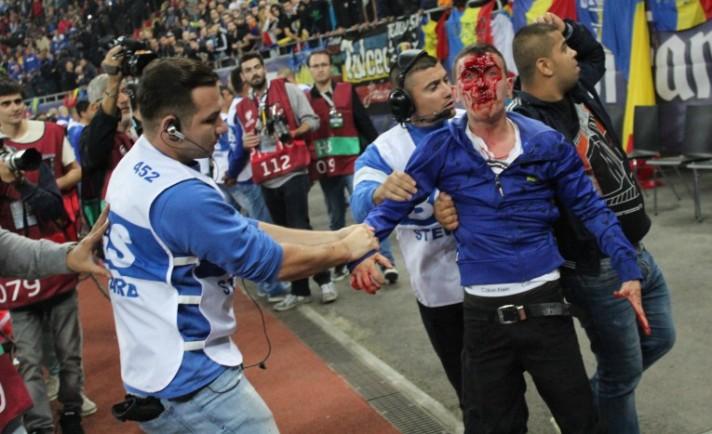 Seguranças da BGS detêm Ultra romeno (foto: SportNews)
