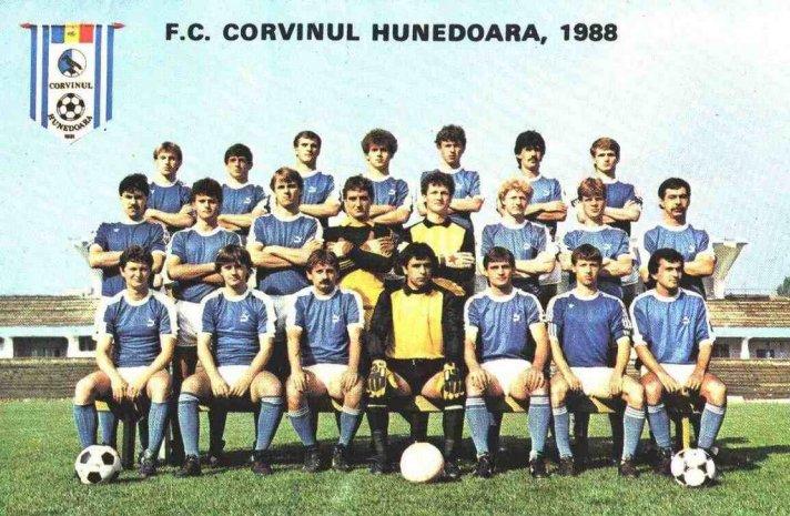 O Corvinul Hunedoara de 1988: o time foi de pequeno para médio na década de 80 e conquistou grandes resultados
