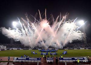 """Festa do CSU no """"último"""" jogo do Estádio Ion Oblemenco antes da demolição foi estragada pelo Steaua (foto: csuc.ro)"""