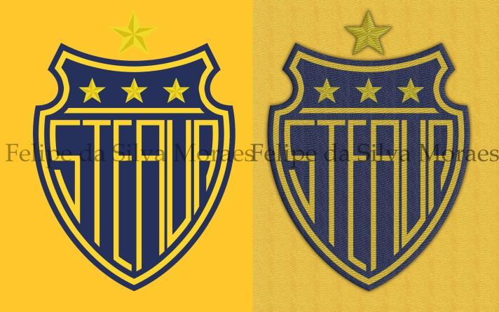 Felipe da Silva Moraes se aventurou na hipótese galben-albastra, com o amarelo e azul. As estrelas dentro do escudo representam os títulos da Liga, da Copa da Romênia e da Supercopa. Acima, a maior conquista da história do clube, a Champions League de 1985-86
