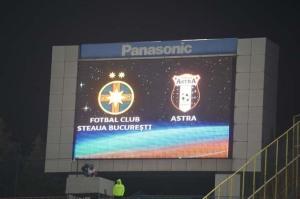 Novo escudo estreou no placar eletrônico do Ghencea (foto: ProSport)