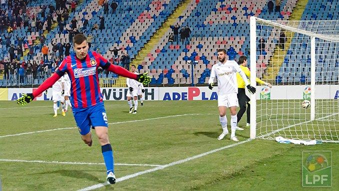 Ex-Dinamo, Tucudean estreou com gol no Steaua (foto: LPF.ro)