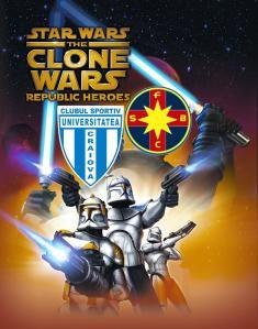 """Antes da partida, o cartaz de """"A Guerra dos Clones"""" circulou pela internet, tirando sarro das duas equipes"""
