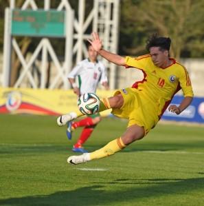 Moldoveanu marcou um golaço de voleio e virou para a Romênia (foto: Niculae Profir/FRF)