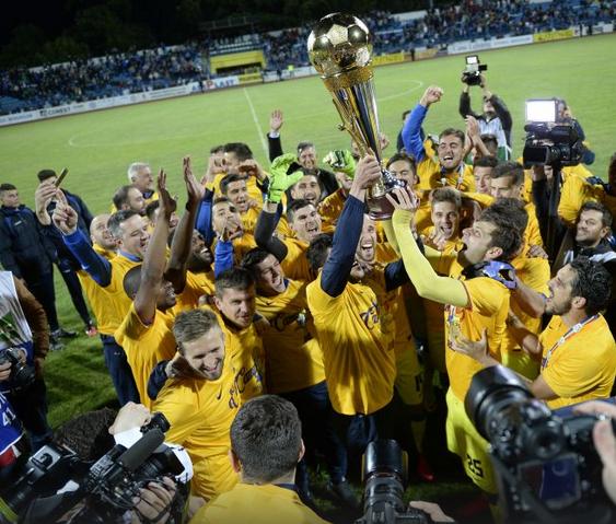 Festa do FCSB em Iasi: O time chega ao 26º título da Liga I, e fica a dez de distância do Dinamo (foto: GSP.ro)