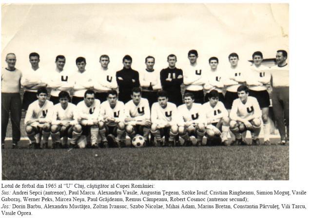 O Universitatea Cluj conquistou a Copa da Romênia de 1964-65, após três vices