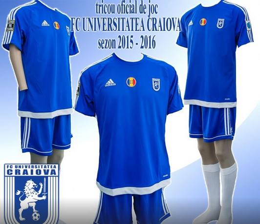 Site do FC U Craiova apresentou o uniforme titular em 2015-15, mas não há nem a confirmação de qual divisão terá a presença do clube
