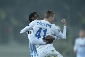 Castagne comemora o primeiro gol (foto: Alexandru Dobre / Mediafax)