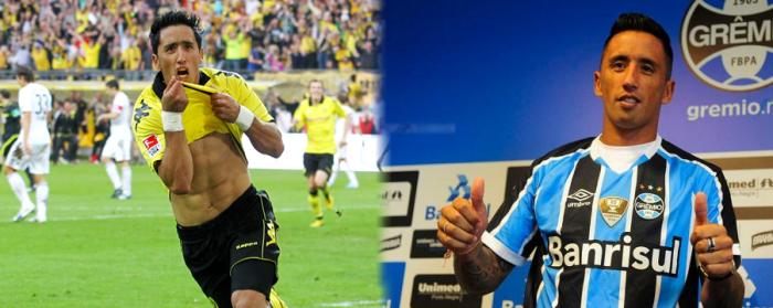 Barrios a fost de doua ori campion germaniei. Dupa doi ani la Palmeiras, a semnat cu Grêmio.